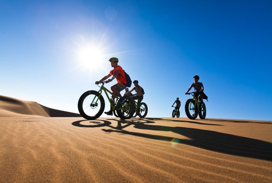 Fatbikes in the Swakopmund dunes